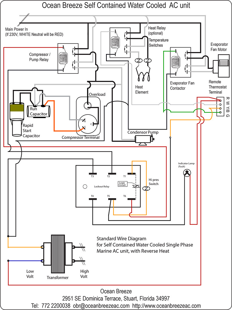 Selfcontained Basic Wire    Diagram     Barco Chillers    Mfd