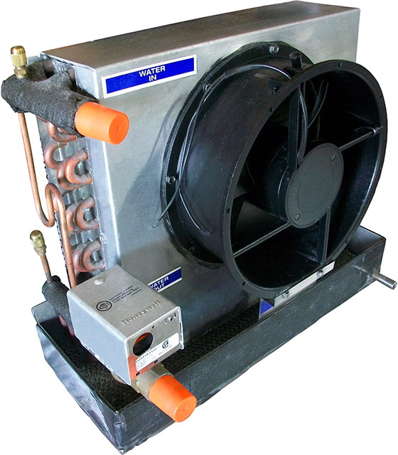 20,000 BTU Blow-through Chilled Water Fan Coil Unit with Motorized Valve