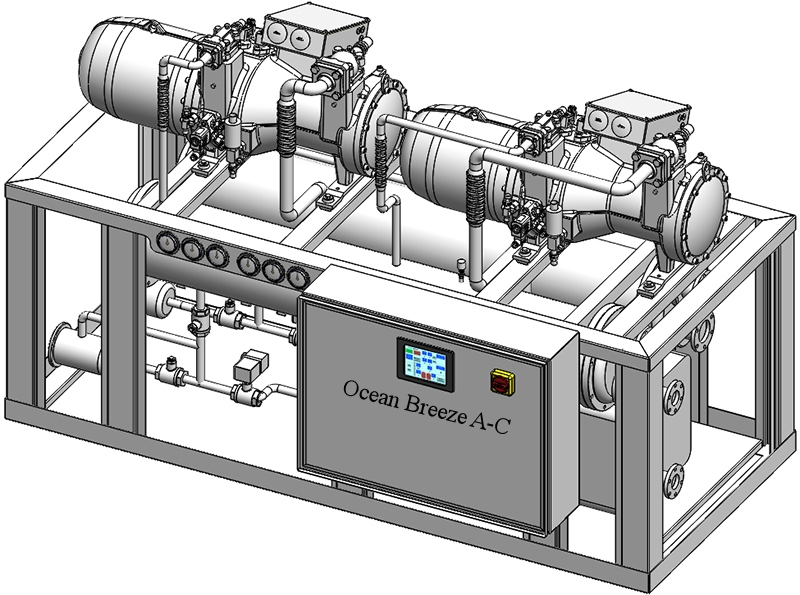 Dual Screw Compressors Chiller System